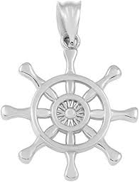 nautical ship steering wheel