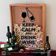 Keep Calm And Drink Wine Sticker For Shadow Box