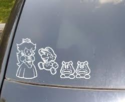 Car Window Family Stickers Mario Family Car Stickers Family Car Decals Family Decals
