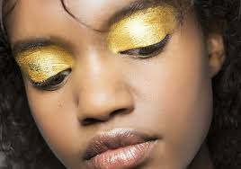 eye makeup looks are dripping with gold