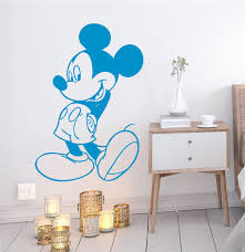Cartoon Mickey Mouse Wall Stickers Bedroom Home Decor Accessories Disney Wall Decals Vinyl Mural Art Diy Posters Buy At The Price Of 4 51 In Aliexpress Com Imall Com
