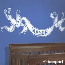 Custom Bird Wall Decal Custom Name Decal Tattoo Art Custom Decal Baby Boy Nursery Baby Girl Nursery Nursery Decor Custom Banner Decal