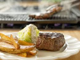 steak frites with lemon and pepper