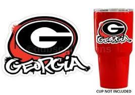 Uga Georgia Bulldogs Graffiti 3 Premium Vinyl Decal Sticker For Tumbler Cup Car Ebay