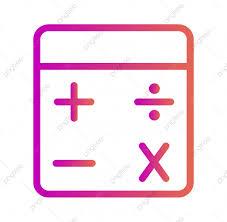 آلة حاسبة ايقونة عزل عزل عن أزال الخلفية حساب حاسبة
