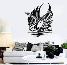 Wall Stickers Vinyl Decal Swan Bird Wave Tribal Art Decor Murals Uniqu Wallstickers4you
