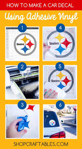 Nfl Project Diy How To Make A Car Decal Using Adhesive Vinyl Cricut Projects Vinyl Adhesive Vinyl Projects Silhouette Projects Beginner