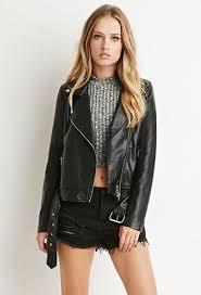 faux leather moto jacket faux leather