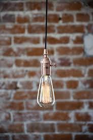 plug in pendant light copper bare bulb