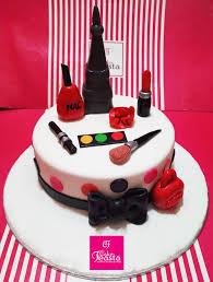 red makeup kit cake customized cakes