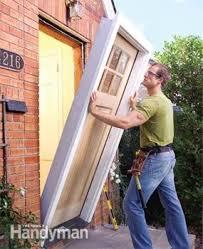 how to replace an exterior door the