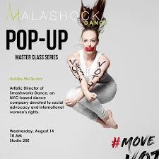 Pop-Up with Ashley McQueen – Malashock Dance