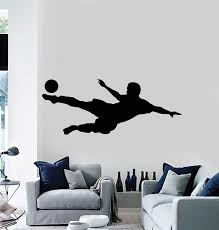 Vinyl Wall Decal Soccer Player Team Room Game Team Sport Ball Stickers Wallstickers4you