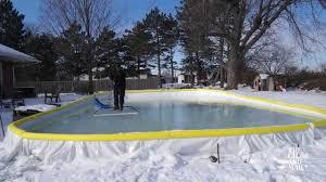 backyard rink smooth all winter long