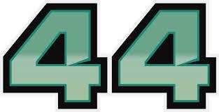 Lewis Hamilton 44 Car Sticker Tenstickers