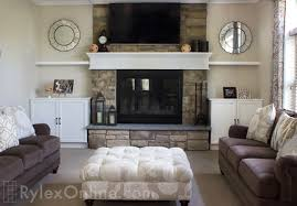 fireplace cabinets floating shelves