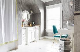 yellow and gray bath accessories home