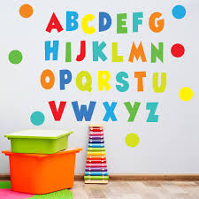 Rainbow Brights Alphabet Wall Decals Abc S Eco Friendly Nursery Deco