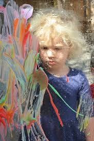 painting on plexiglass for toddlers