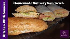 homemade subway sandwich you