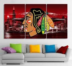 Chicago Blackhawks Canvas Painting Poster Wall Art Framed Sports Art Direct