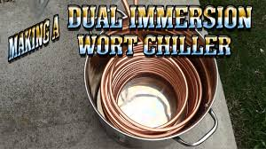 making a dual immersion wort chiller