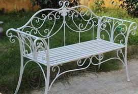 china wrought iron garden bench for