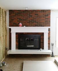 painted brick fireplace fresh crush