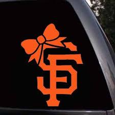 San Francisco Giants Sf Giants Girl Bow Tie Logo Car Wi