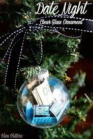 diy date night clear glass ornament