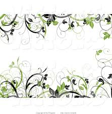 leafy vines border frame with blank