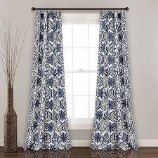 Marvel 2 Pack 84 Inch Rod Pocket Room Darkening Window Curtain In Navy Bed Bath Beyond