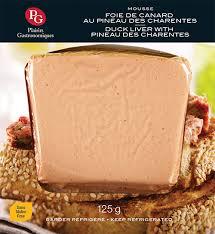 duck liver mousse with pineau des