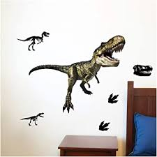 Amazon Com Tyrannosaurus Rex Dinosaur T Rex Augmented Reality 33 Deluxe Wall Decal Peel Stick Removable Vinyl Kitchen Dining