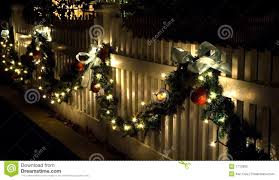 Holiday Fence Decorations Stock Photo Image Of Bows Victorian 1712800