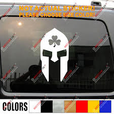 Sparta Irish Spartan Decal Sticker Car Vinyl Shamrock Ireland Molon Labe Clover Car Stickers Aliexpress