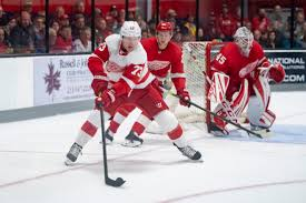 Red Wings' edgy Adam Erne has 'good combination of physicality and skill'