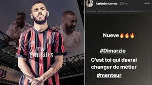 COLPO DI SCENA] BENZEMA al MILAN?? UMILIATO Di Marzio || Calciomercato Milan  - YouTube