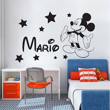 Personalized Name Mickey Mouse Vinyl Wall Art Decal