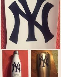 New York Yankee Baseball Yeti Swell Rtic Car Decals Ny Ny Etsy