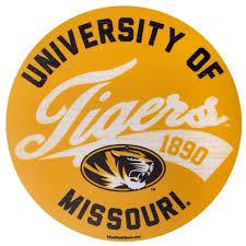 The Mizzou Store University Of Missouri Tigers Large Gold Sticker