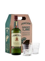 jameson irish whiskey with glasses gift