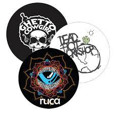 Bass Drum Head Vinyl Stickers