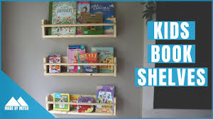 Kids Wall Bookshelf Youtube