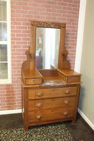 victorian dresser with marble top and