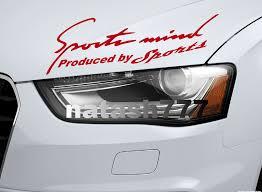 Sports Mind Car Headlight Taillight Eyebrow Racing Vinyl Decal Sticker Red Natash777 Volkswagen Decal Sports Decals Decals Stickers
