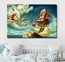 Unframed Printed Poster Salvador Dali Famous Canvas Modern Oil Art Painting Home Wall Decal Gift Wish