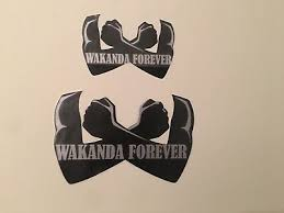2 Marvel Black Panther Wakanda Car Decal School Home Wall Sticker Free Shipping Ebay