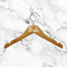 Set Of 6 Vinyl Art Decals Bride Bridesmaid Maid Of Honor From 0 5 To 3 Each Modern Elegant Trendy Chic Wedding Accessory Bridal Clothes Dresses Hanger Decorations White