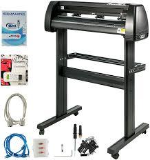 Amazon Com Vevor Vinyl Cutter 34 Inch Plotter Machine Signmaster Software Sign Making Machine 870mm Paper Feed Vinyl Cutter Plotter With Stand 34inch Style 1 Office Products